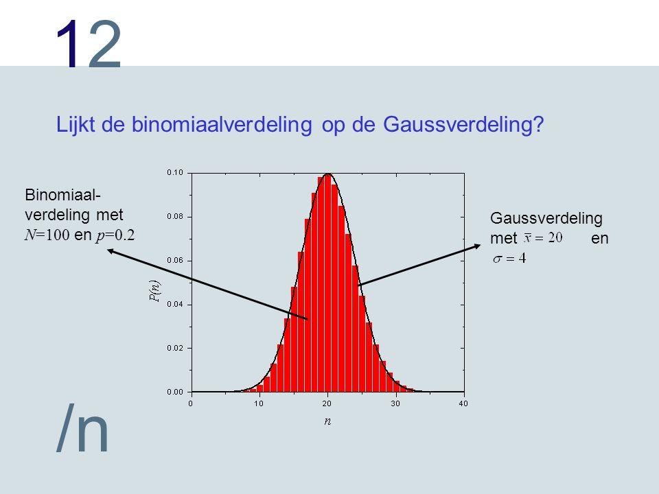Lijkt de binomiaalverdeling op de Gaussverdeling
