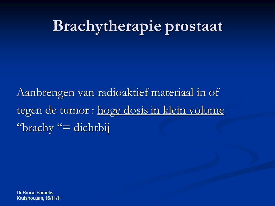 Brachytherapie prostaat