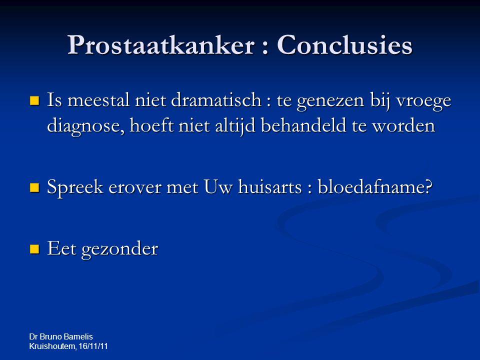 Prostaatkanker : Conclusies
