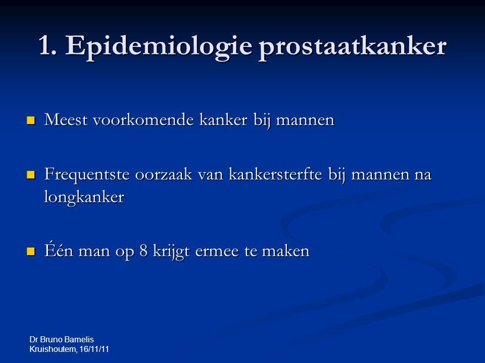 1. Epidemiologie prostaatkanker