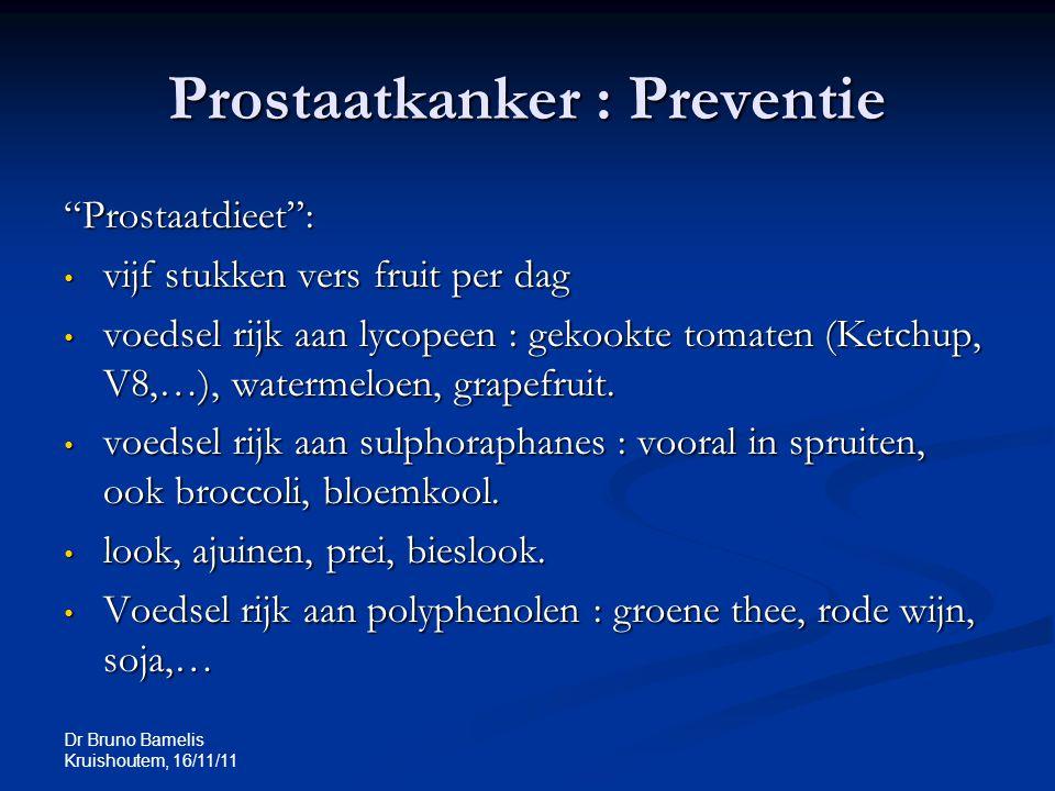 Prostaatkanker : Preventie