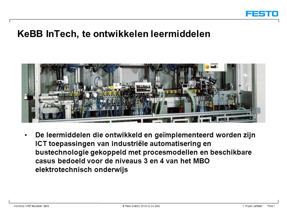 KeBB InTech, te ontwikkelen leermiddelen
