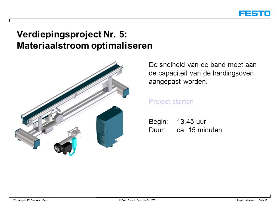 Verdiepingsproject Nr. 5: Materiaalstroom optimaliseren