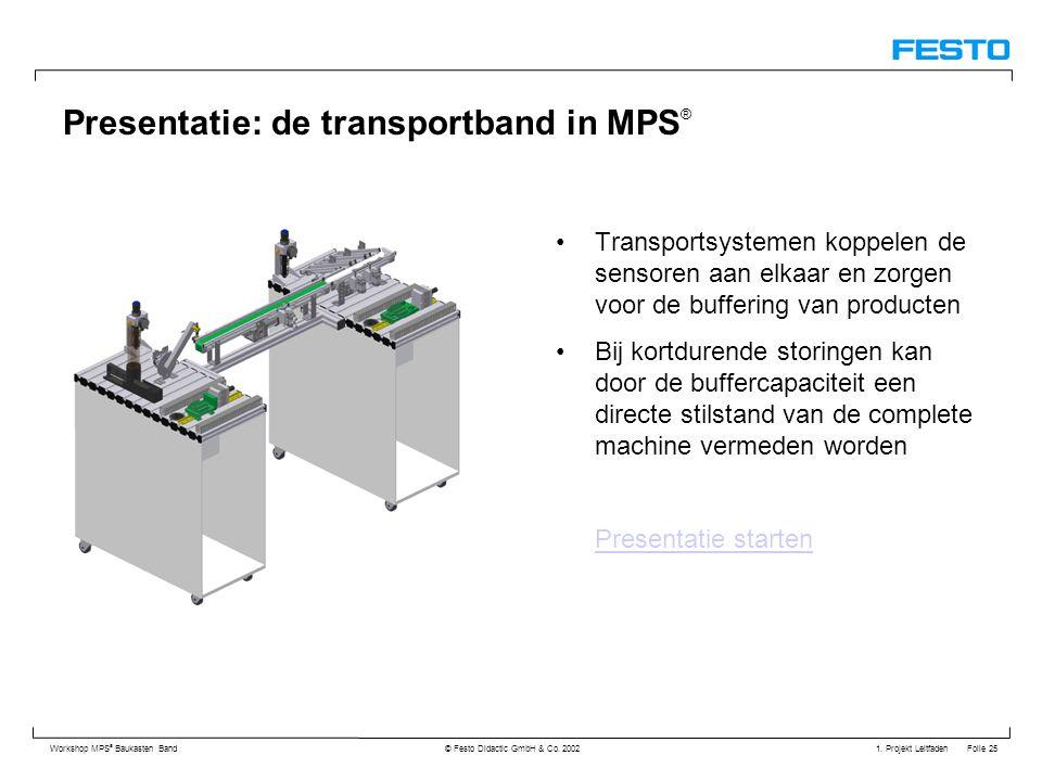 Presentatie: de transportband in MPS®