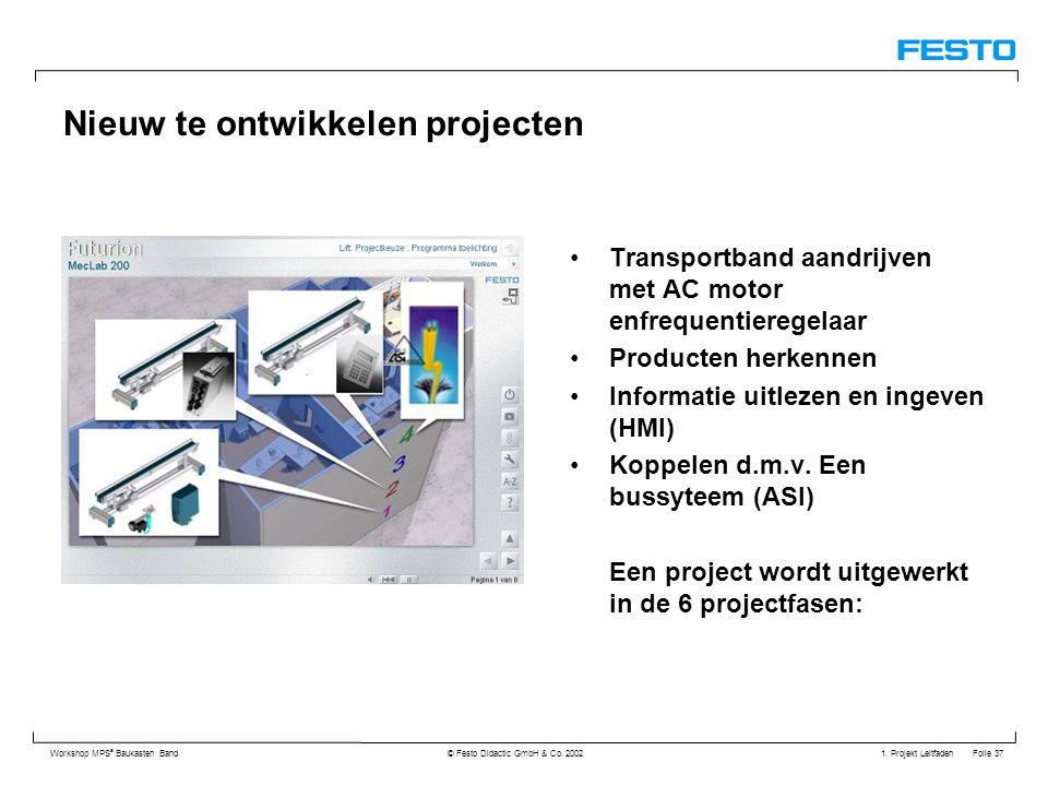 Nieuw te ontwikkelen projecten