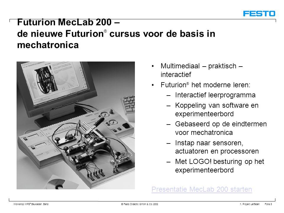 Futurion MecLab 200 – de nieuwe Futurion® cursus voor de basis in mechatronica