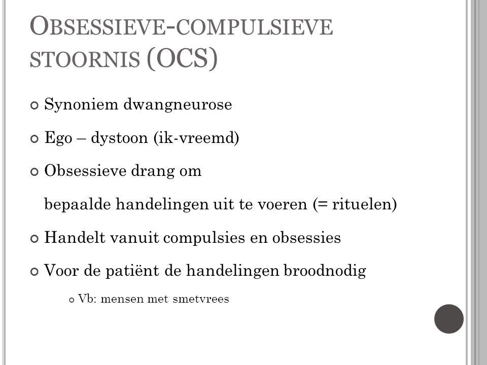 Obsessieve-compulsieve stoornis (OCS)