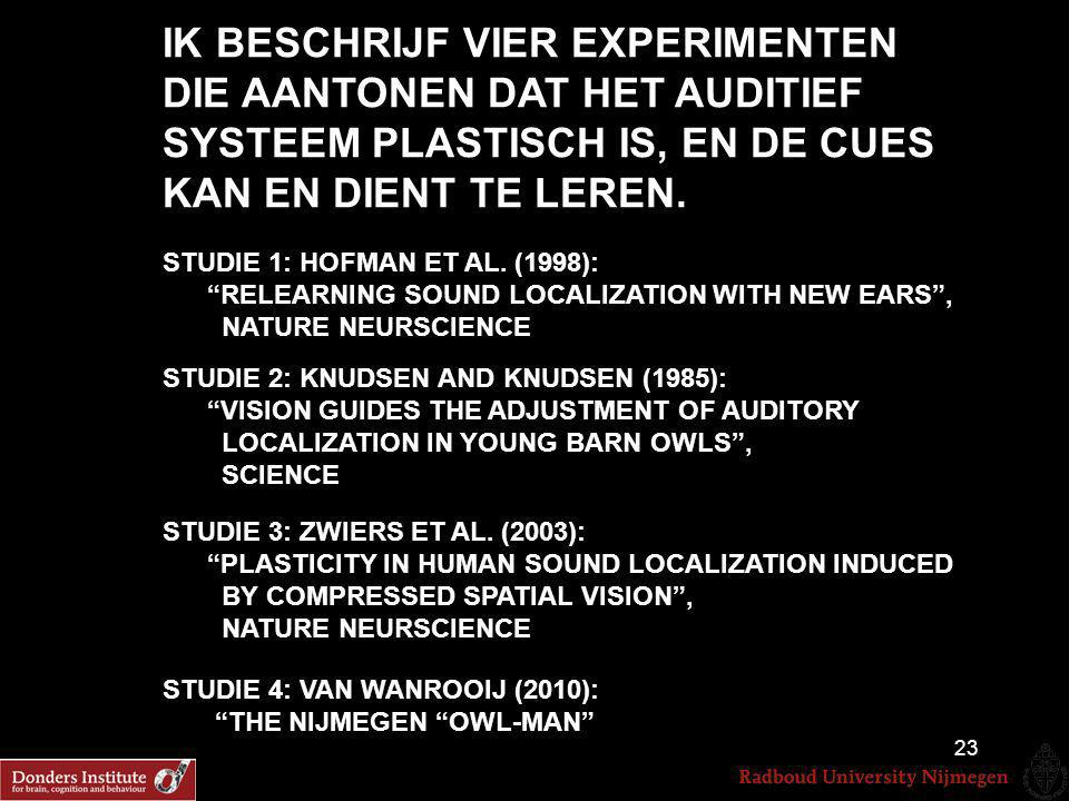 Uit Hofman et al. Nat. Neurosci., 1998