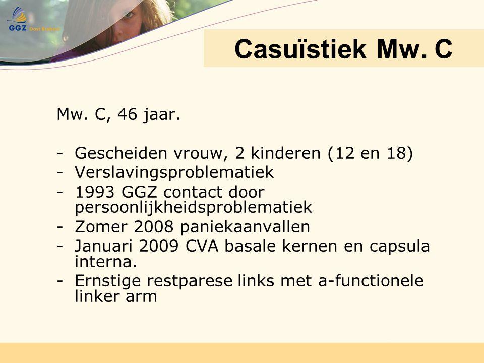 Casuïstiek Mw. C Mw. C, 46 jaar.