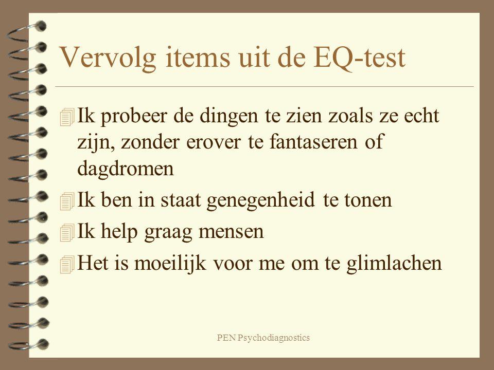 Vervolg items uit de EQ-test