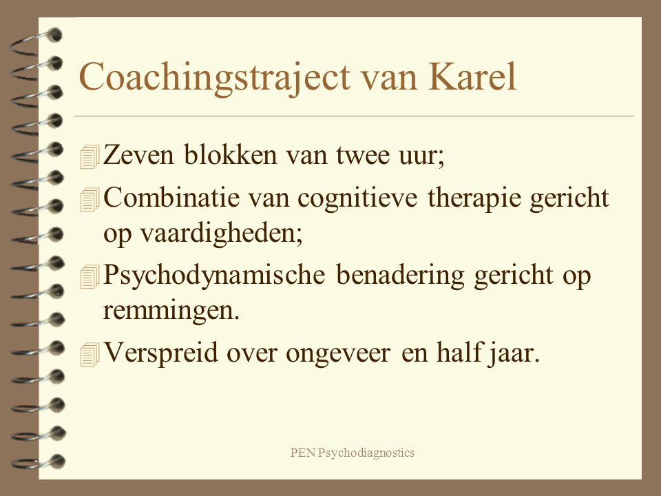 Coachingstraject van Karel