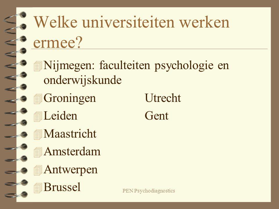 Welke universiteiten werken ermee