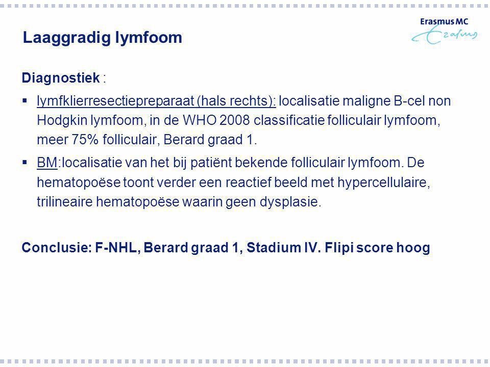 Laaggradig lymfoom Diagnostiek :