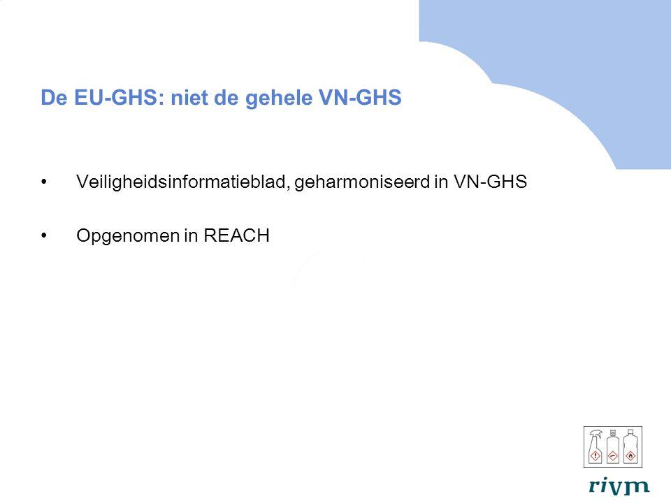 De EU-GHS: niet de gehele VN-GHS