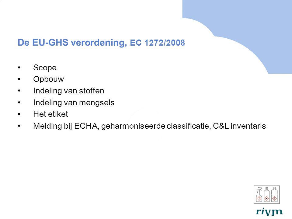 De EU-GHS verordening, EC 1272/2008
