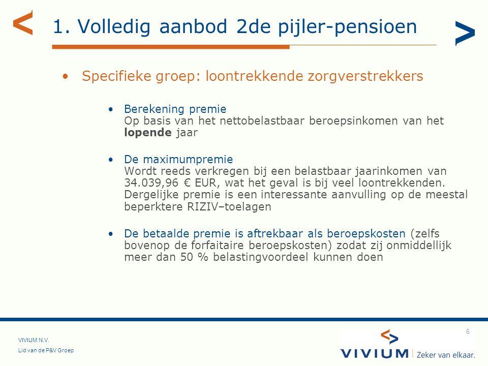 1. Volledig aanbod 2de pijler-pensioen