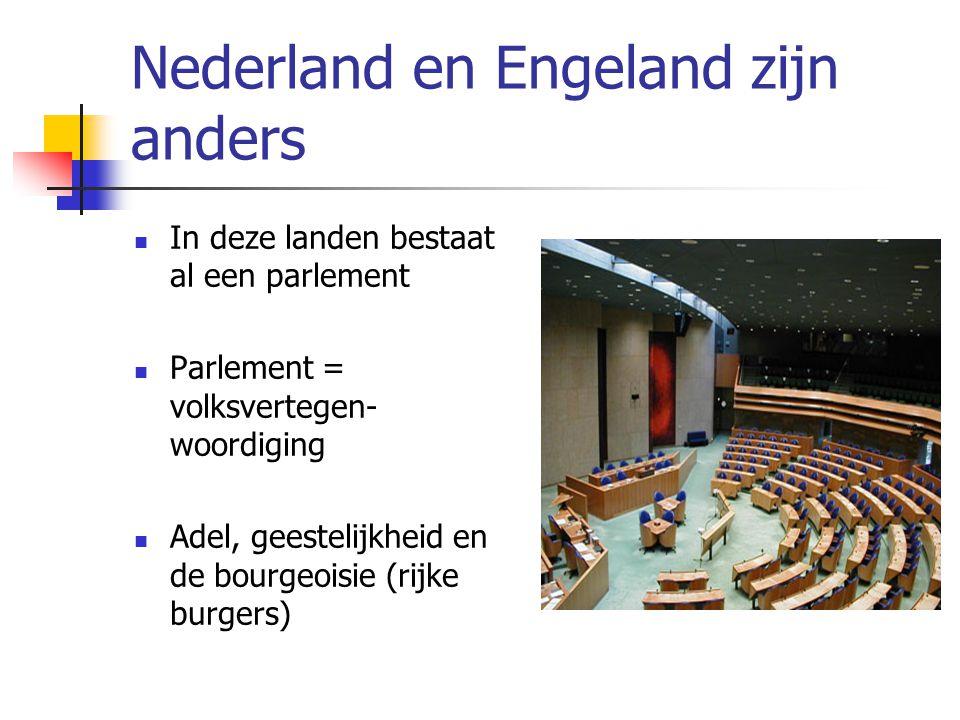 Nederland en Engeland zijn anders