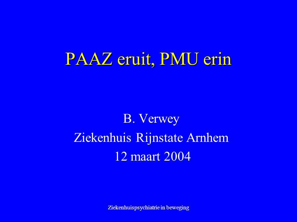 B. Verwey Ziekenhuis Rijnstate Arnhem 12 maart 2004