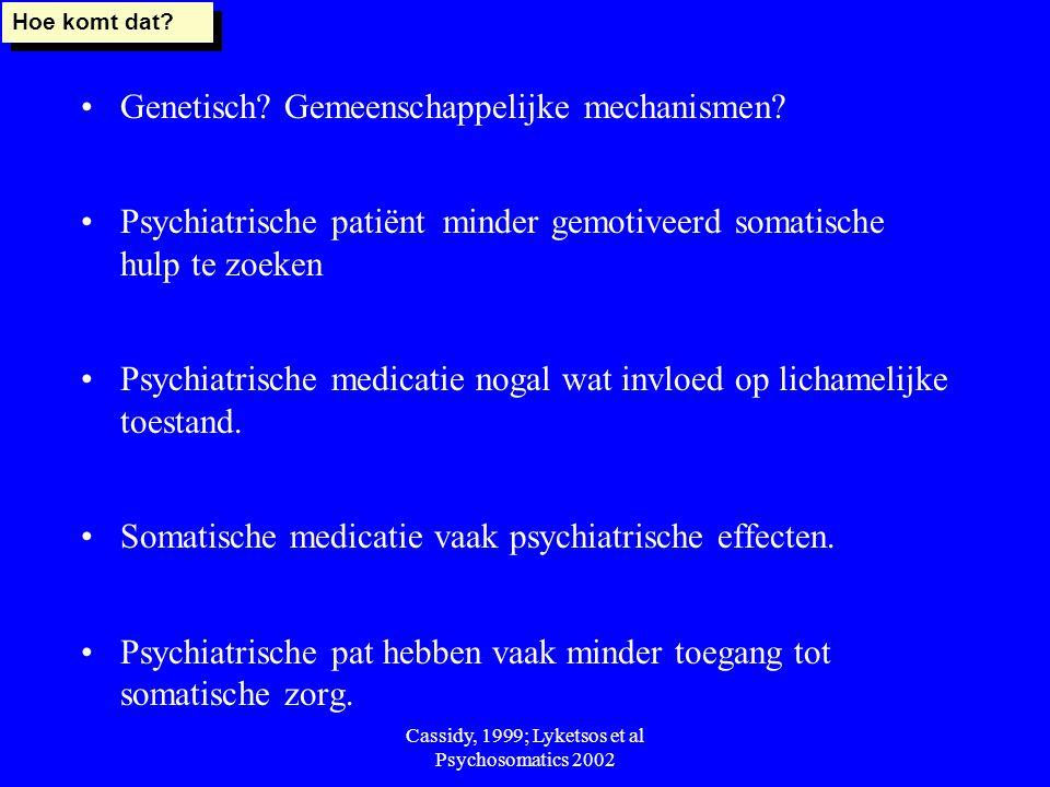 Cassidy, 1999; Lyketsos et al Psychosomatics 2002
