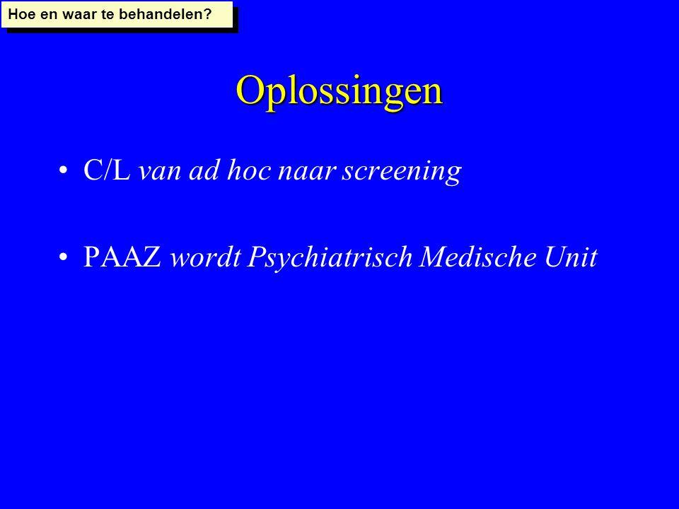 Oplossingen C/L van ad hoc naar screening