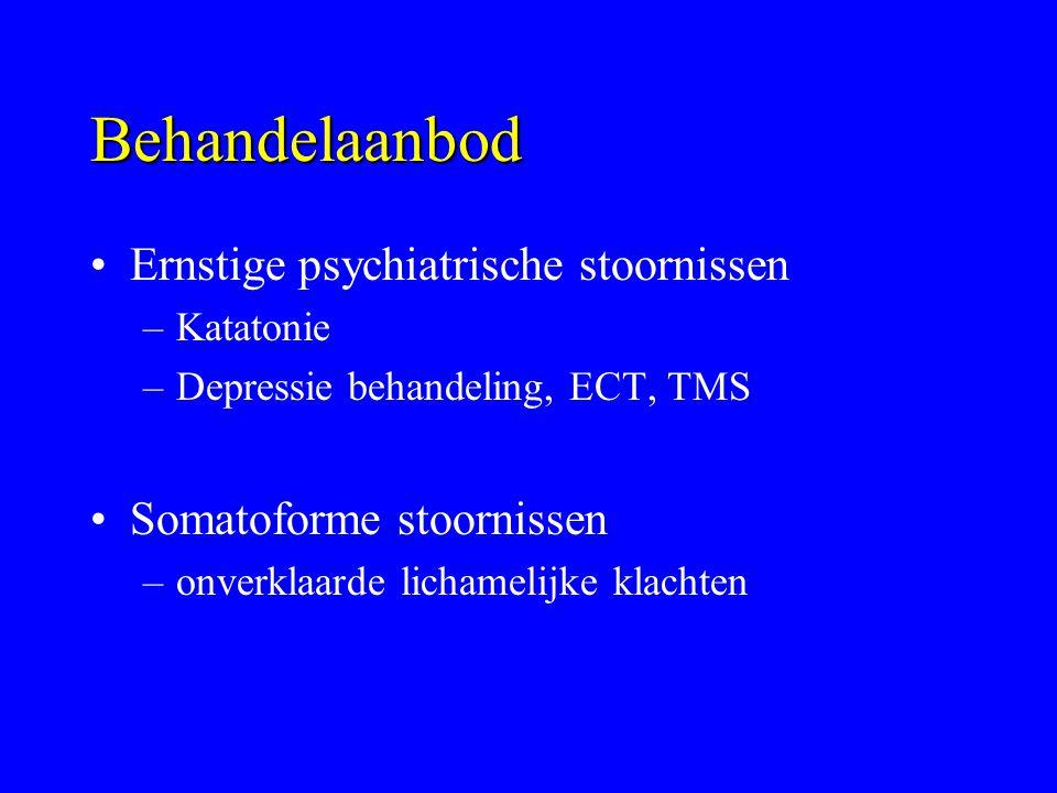 Behandelaanbod Ernstige psychiatrische stoornissen
