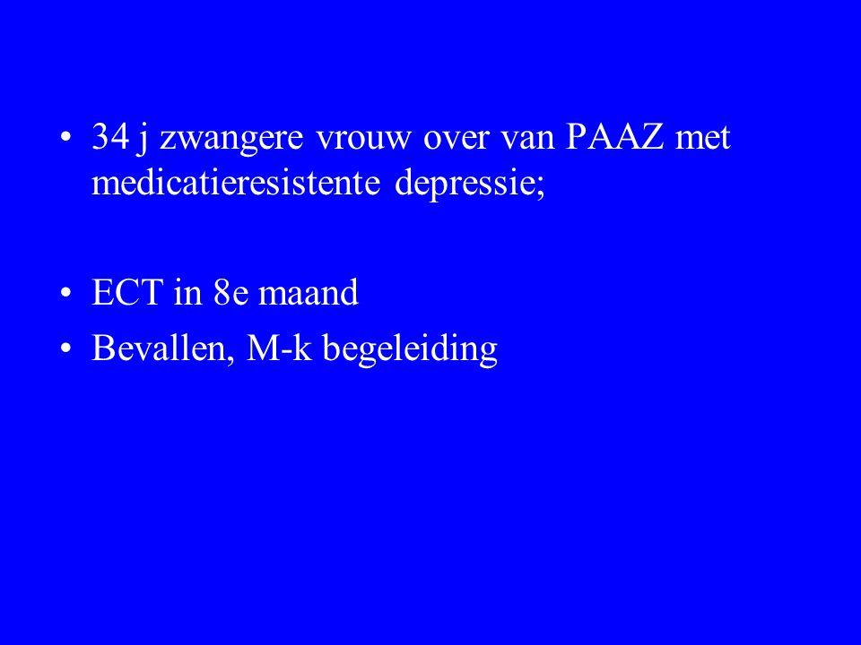 34 j zwangere vrouw over van PAAZ met medicatieresistente depressie;