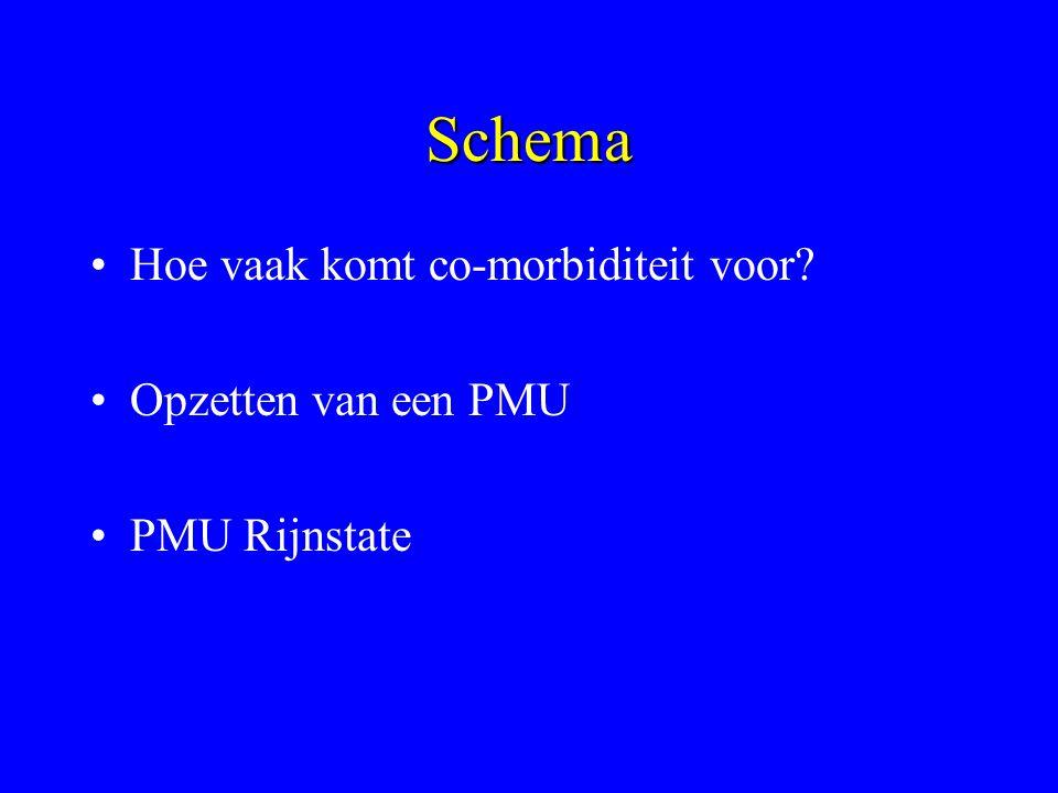 Schema Hoe vaak komt co-morbiditeit voor Opzetten van een PMU