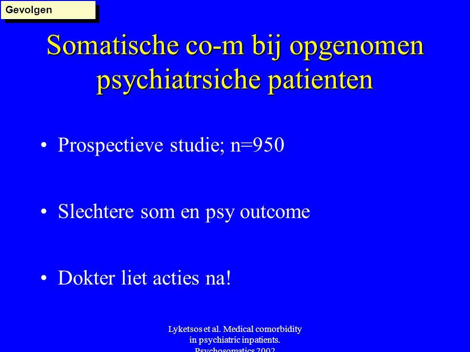 Somatische co-m bij opgenomen psychiatrsiche patienten