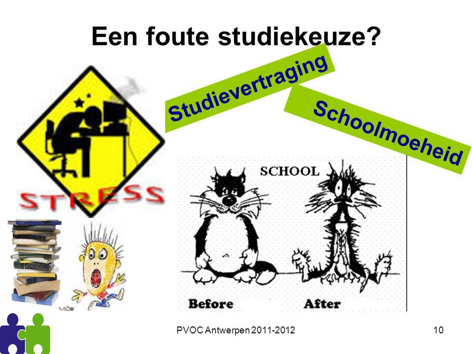 Een foute studiekeuze Studievertraging Schoolmoeheid