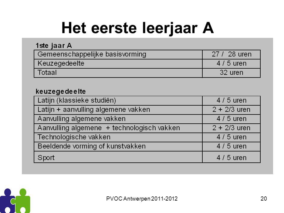 Het eerste leerjaar A PVOC Antwerpen 2011-2012