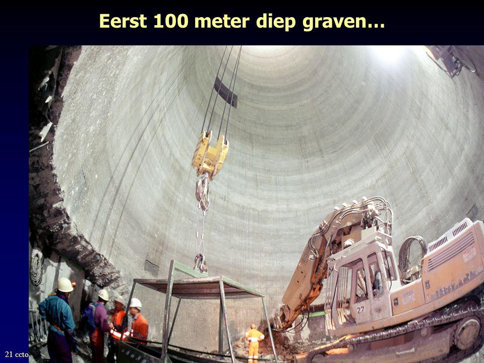 Eerst 100 meter diep graven…
