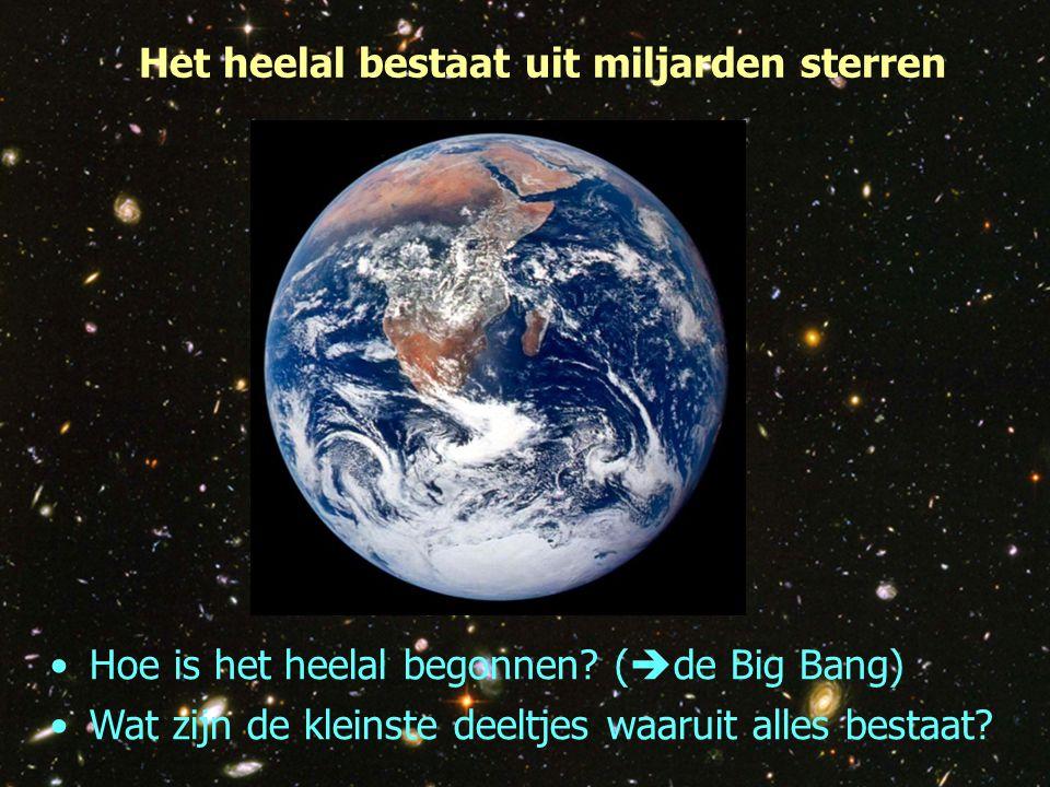 Het heelal bestaat uit miljarden sterren