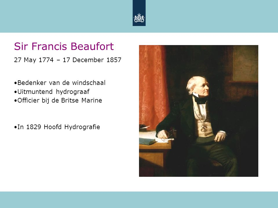 Sir Francis Beaufort 27 May 1774 – 17 December 1857