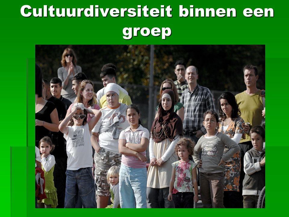 Cultuurdiversiteit binnen een groep