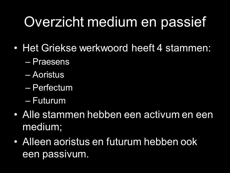 Overzicht medium en passief
