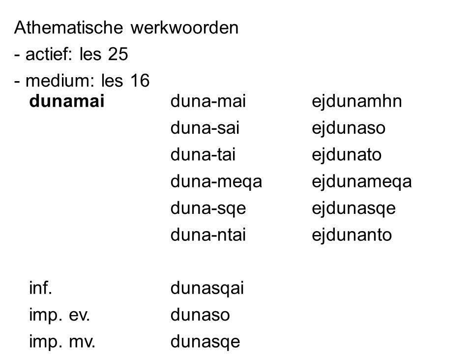 Athematische werkwoorden