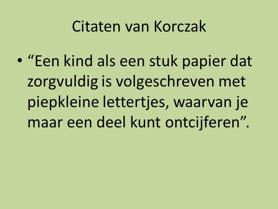 Citaten van Korczak