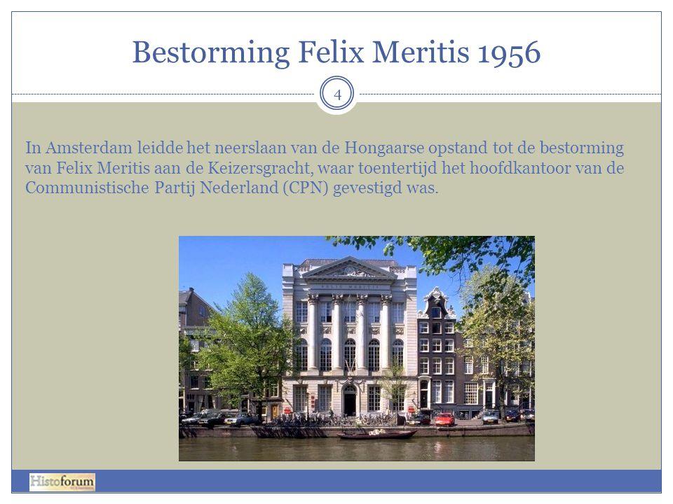 Bestorming Felix Meritis 1956