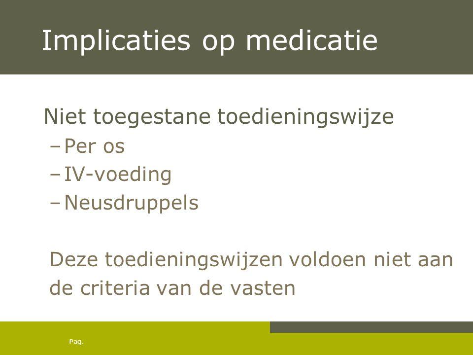 Implicaties op medicatie