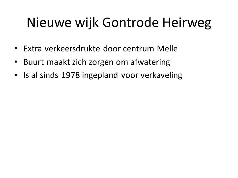 Nieuwe wijk Gontrode Heirweg