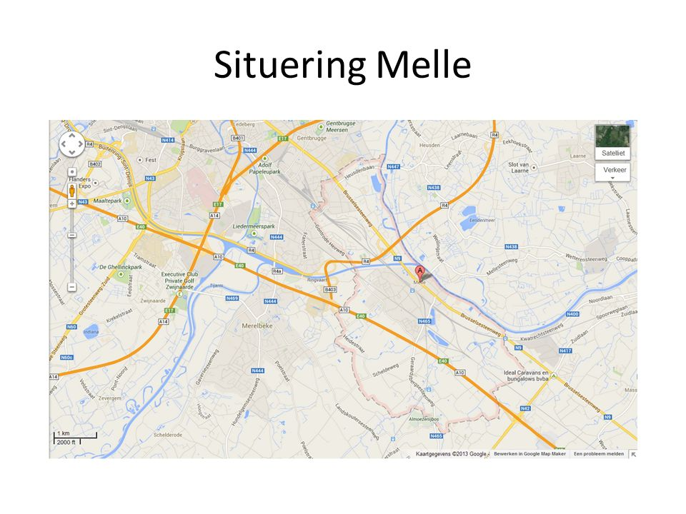 Situering Melle