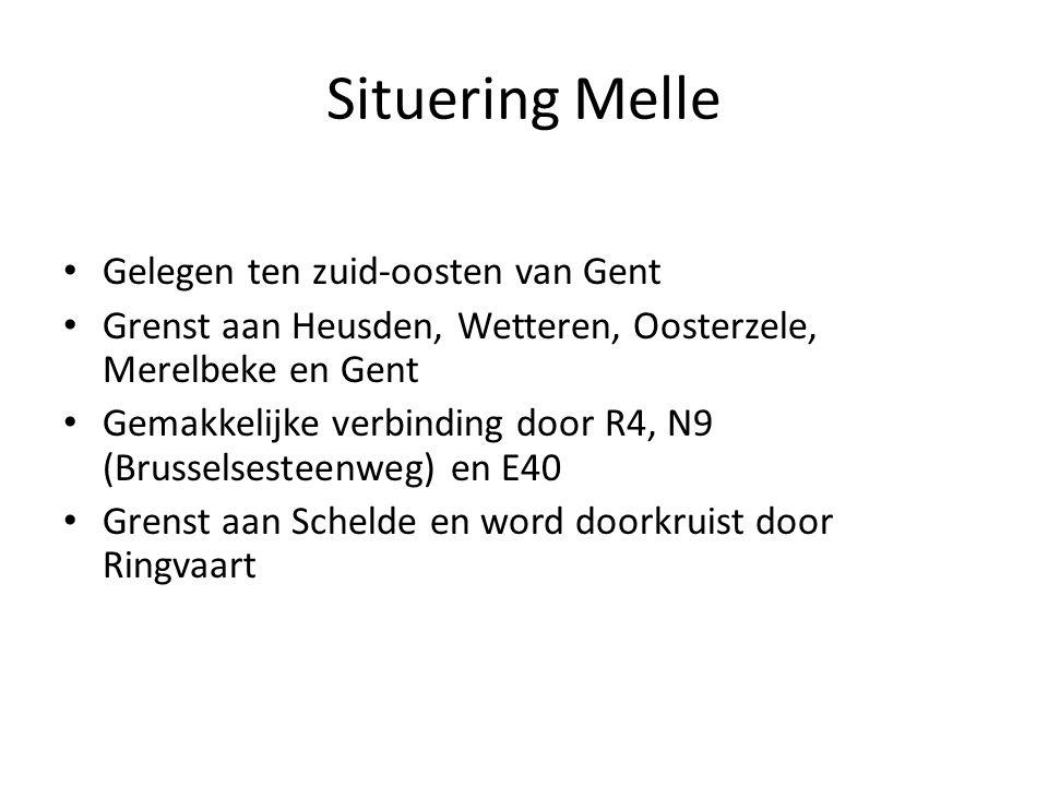 Situering Melle Gelegen ten zuid-oosten van Gent