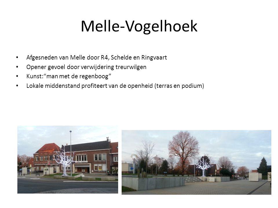 Melle-Vogelhoek Afgesneden van Melle door R4, Schelde en Ringvaart