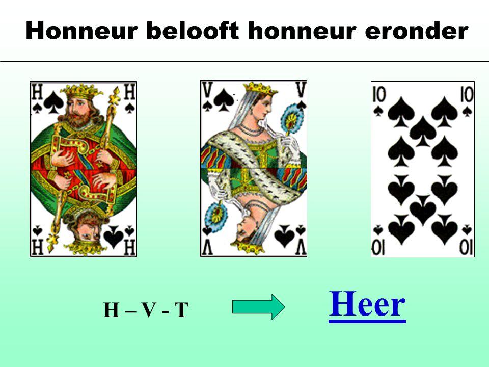 Honneur belooft honneur eronder