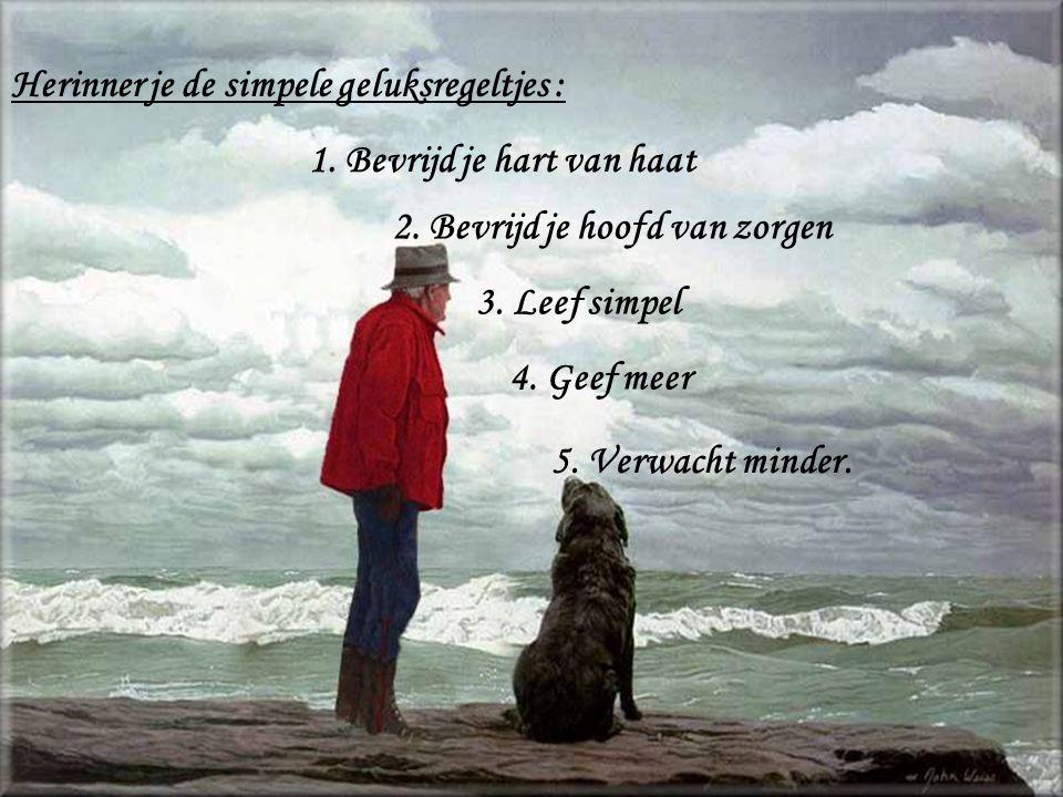 Herinner je de simpele geluksregeltjes :