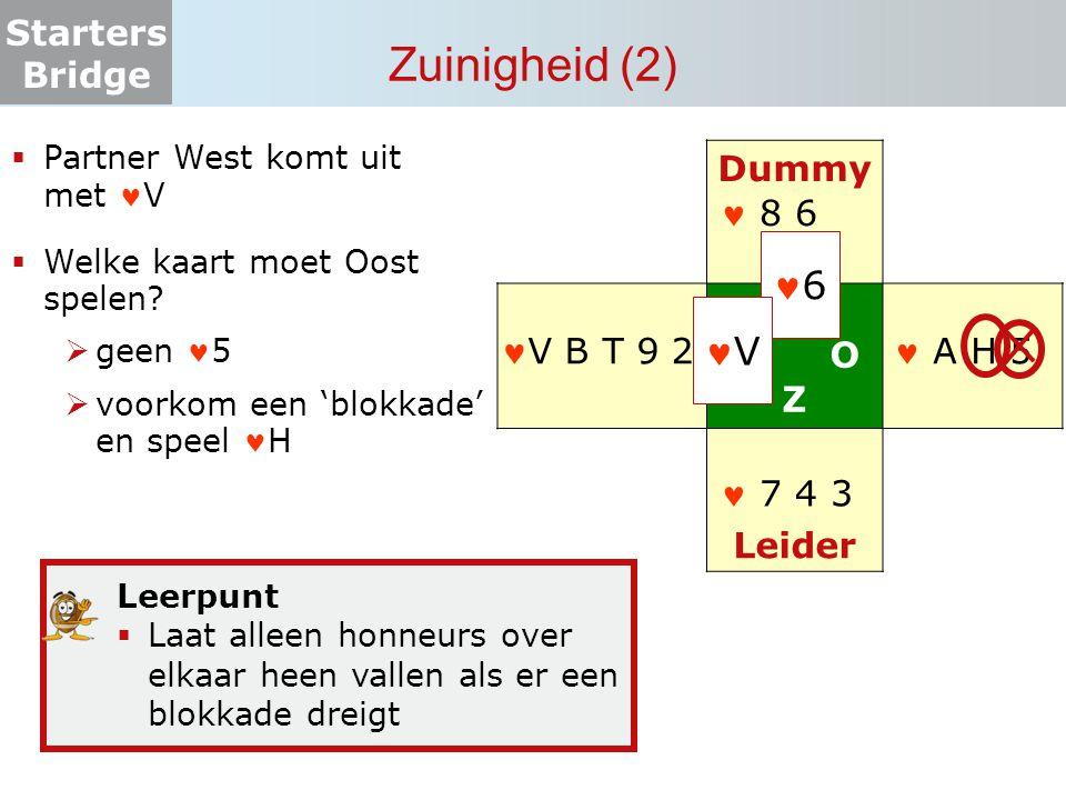 Zuinigheid (2) 6 V Dummy N W O Z Leider  8 6 V B T 9 2  A H 5