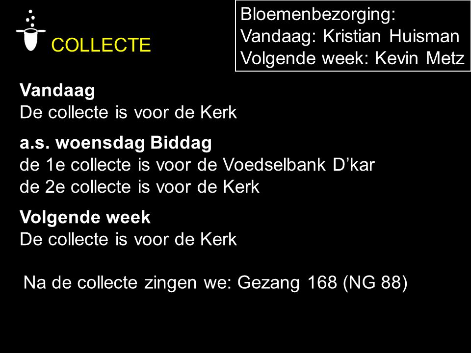 COLLECTE Bloemenbezorging: Vandaag: Kristian Huisman