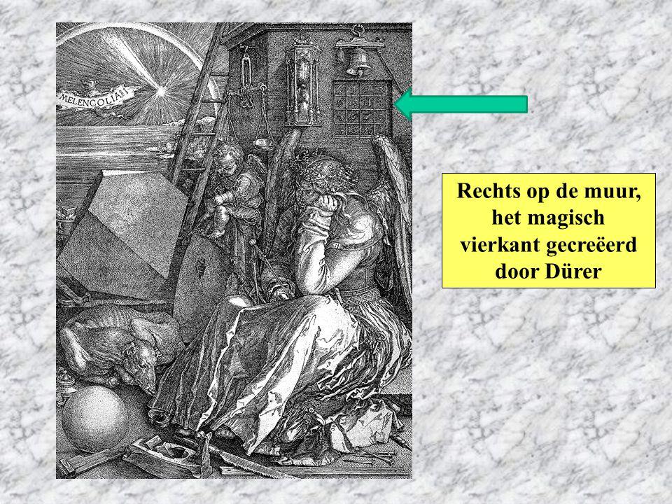 Rechts op de muur, het magisch vierkant gecreëerd door Dürer
