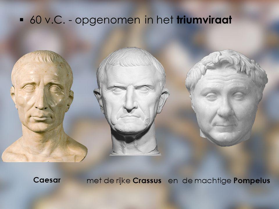 60 v.C. - opgenomen in het triumviraat