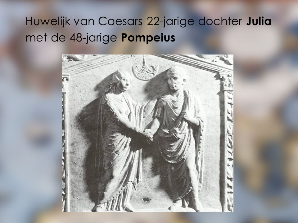 Huwelijk van Caesars 22-jarige dochter Julia